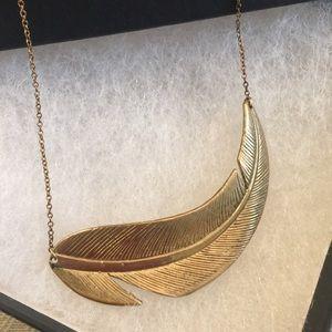 Jewelry - GOLD Dipped LEAF and Chain Handmade Necklace